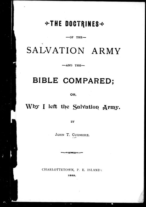 "salvation army essay In light of the massive adverse publicity surrounding non-profit organizations and charities, the key objective of the salvation army (""the army"") in the coming years is to increase public confidence."