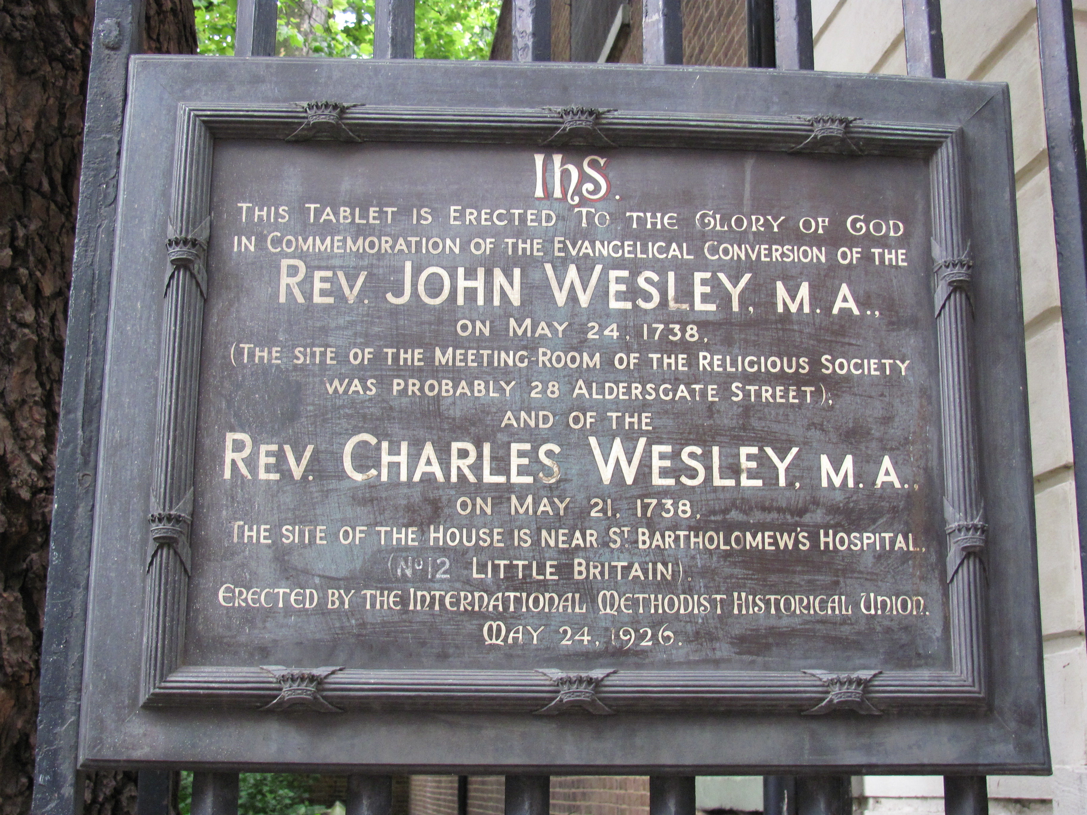 「Aldersgate Church London Wesley」の画像検索結果