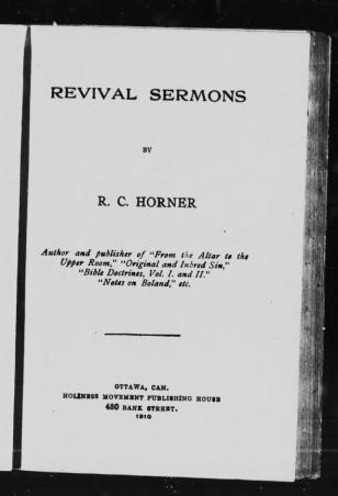 Horner Revival Sermons via Internet Archive