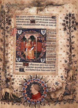 Giovannino de Grassi Psalm 118 (119), Biblioteca Nazionale Florence via wikimedia commons