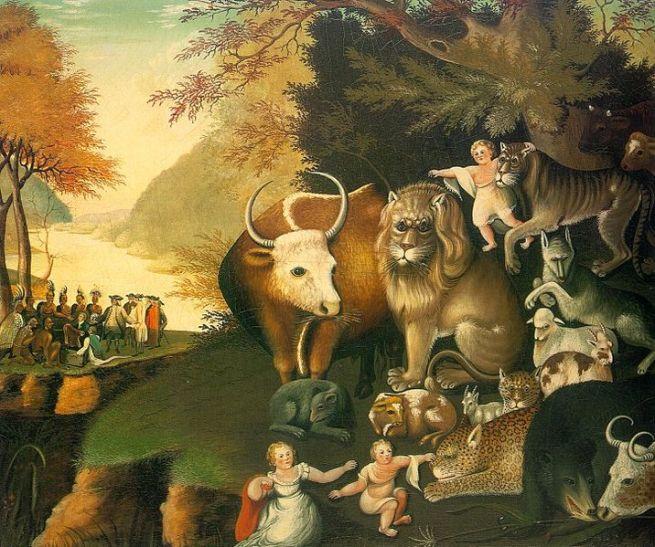 Peacable Kingdom by Edward Hicks via wikimedia commons
