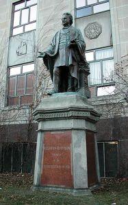Ryerson statue on campus via wikimedia commons
