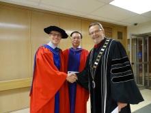 Prof. Dennis Ngien and President Nelson